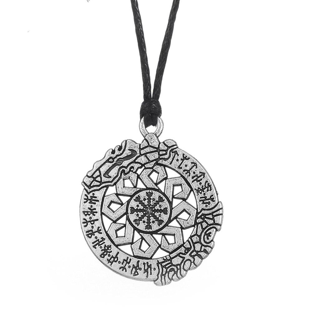 EUEAVAN 30 piezas nórdico inbatible Battle Rune colgante collar Slavic runa amuleto joyería hombre accesorio