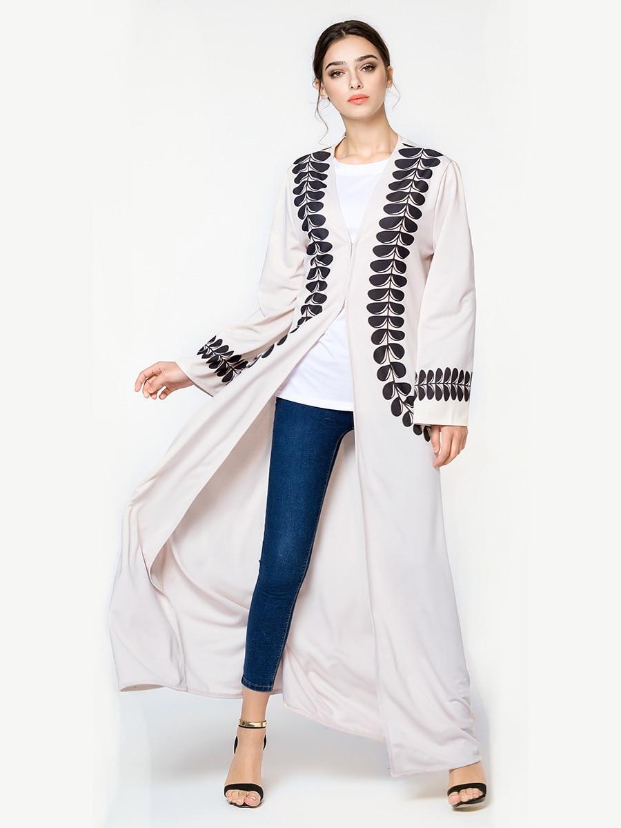 TUHAO vestido de talla grande con estampado de estilo musulmán, Vestido largo de Cárdigan para mujer, vestidos sueltos de primavera y verano, vestido elegante para mujer CM119
