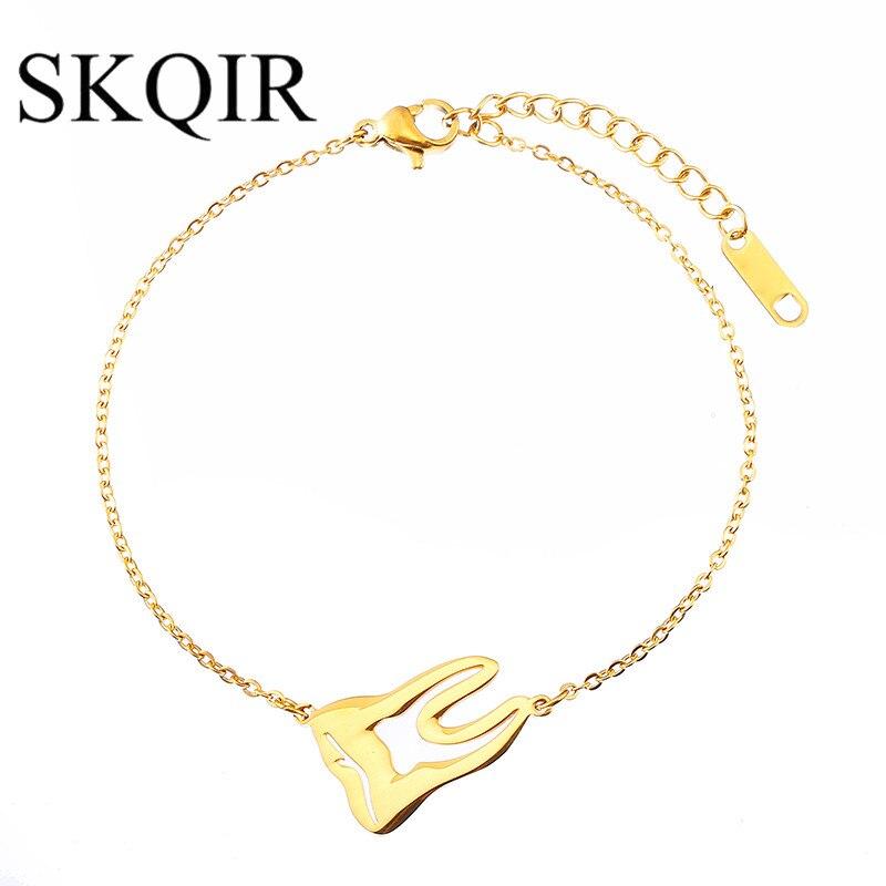 Pulseira de dentes médicos para médico enfermeira masculino jóias dente pulseira corrente de aço inoxidável moda feminina acessórios presente berloque