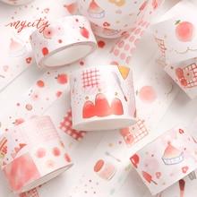 6 unids/lote serie sweet peach especial tinta álbum diario pegatinas DIY papel decoración cinta adhesiva cinta washi cinta