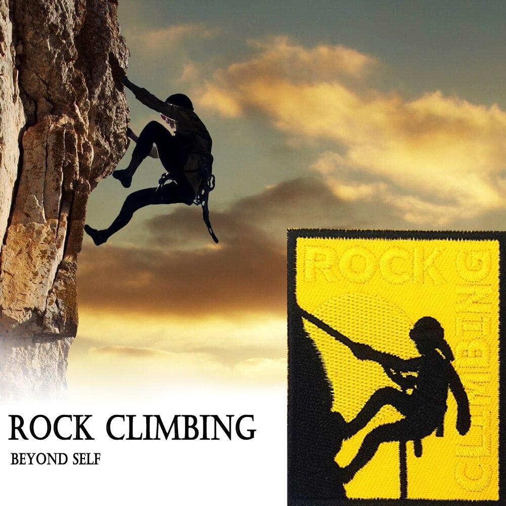 Parche de escalada en roca, Parche de trepador Cub Scouts Boy Girl Sport al aire libre, insignia de alta aventura, parche de insignia de escalada en roca, aplique