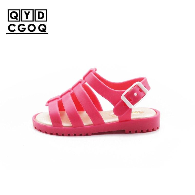 Mini Melissa sandalias de estilo clásico Roma para niñas 2019 nuevos zapatos de gelatina para niñas zapatos para niñas sandalias transpirables para niños sandalias para niños pequeños