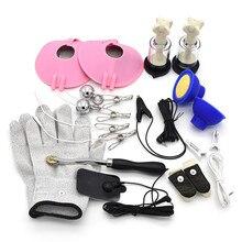13 Style choisir électro Anal Plug gants pinces à seins outils choc électrique bricolage accessoires jeux pour adultes Sex Toys pour femmes Mn