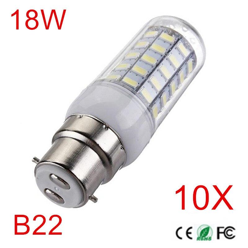 B22 super brilhante conduziu a luz inteligente ic drive 18 w ac220v 230 v 240 v 56 leds 5730 milho lâmpada lampada led vela luz do ponto iluminação