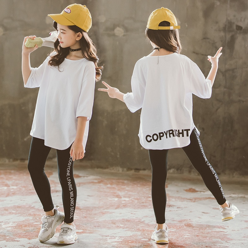 Camiseta blanca de manga larga con cuello redondo para niñas de primavera 2020, camisetas para niñas, camisetas para niñas, ropa para niños de 10 a 12 años
