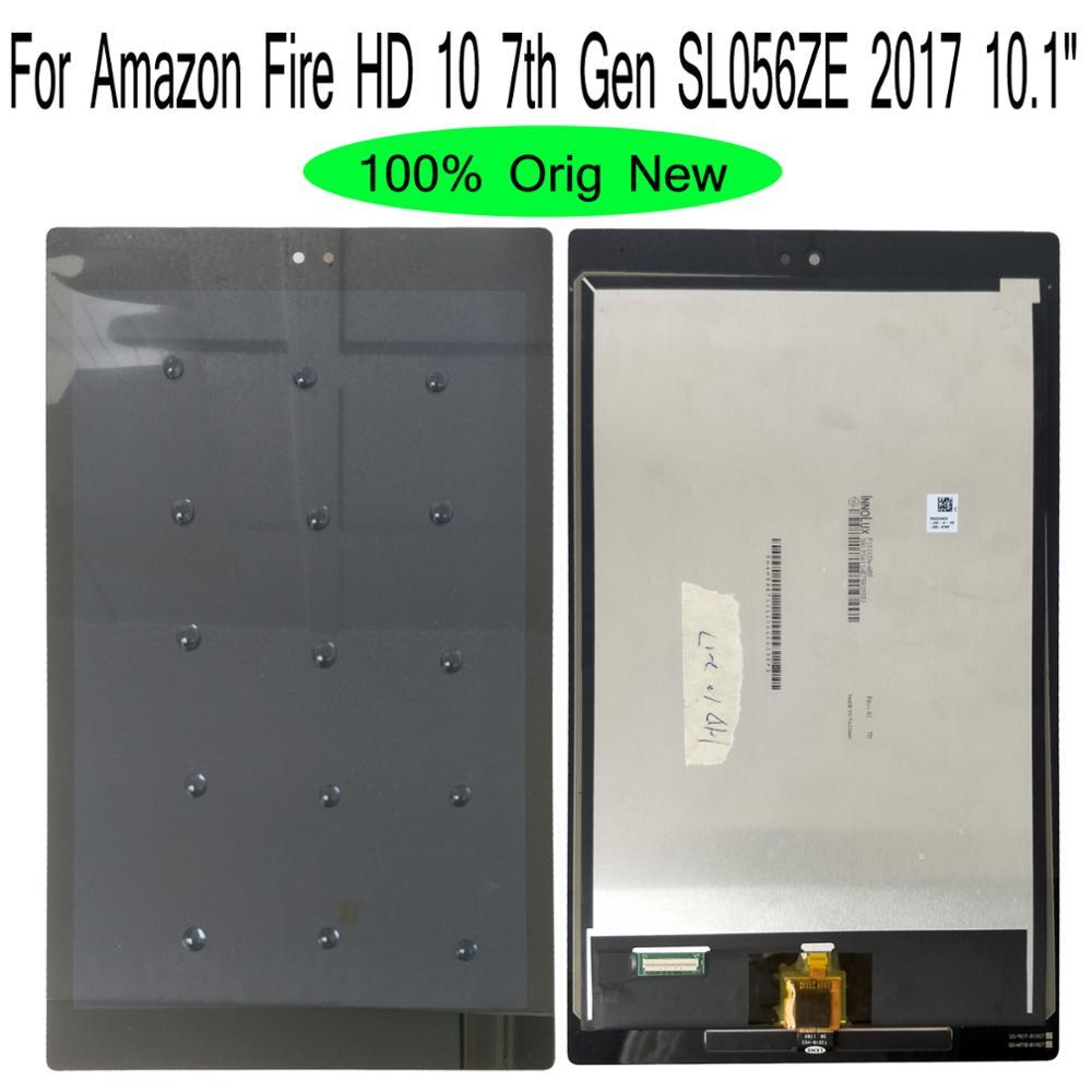 Shyueda لالامازون النار HD 10 7th الجنرال SL056ZE 2017 10.1 1920x1200 100% الاصليه AAA + IPS شاشة الكريستال السائل محول الأرقام بشاشة تعمل بلمس
