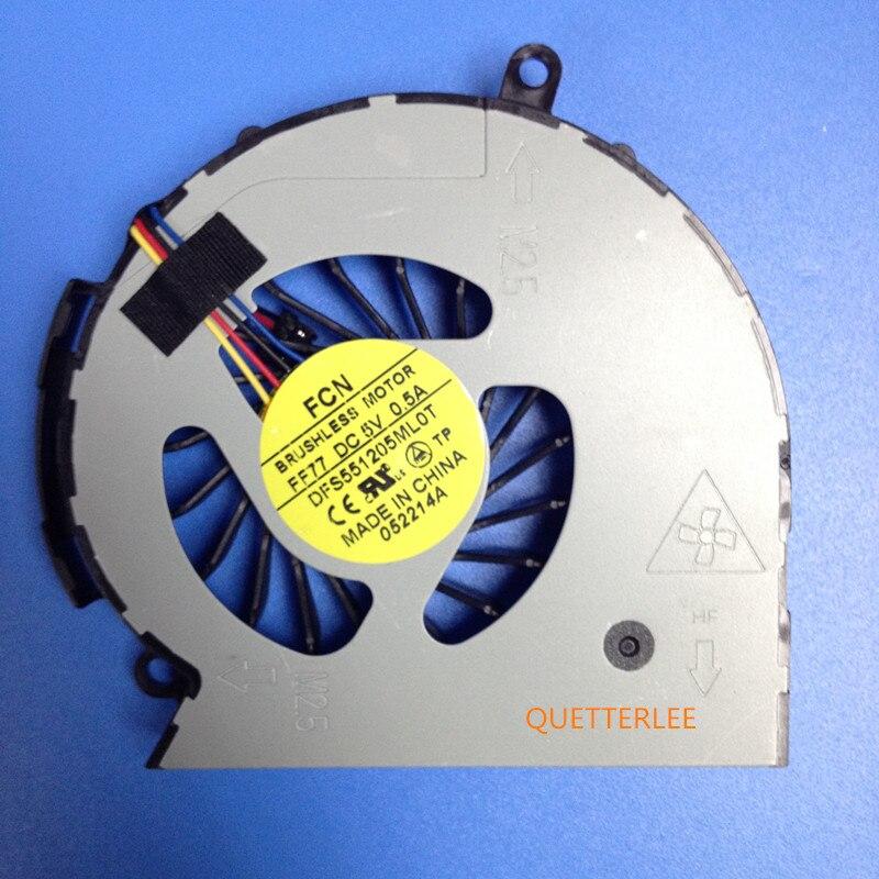 Вентилятор для HP 14 15 14-D 15-D 240 g2 250 g2 Вентилятор охлаждения процессора 747241-001 747242-001 747266-001 NFB75B05H-002 DFS551205ML0T FF77