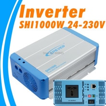 Onduleur solaire ondulé pur 1000W EPEVER SHI1000W 24V   Onduleur de grille PV 24Vdc à 230Vac PV, DC à AC SHI1000W, en europe australienne
