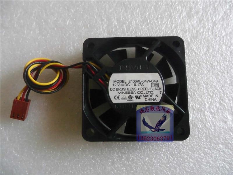 Ventilateur axial à 3 lignes, NMB-MAT 2406KL-04W-B49 6015