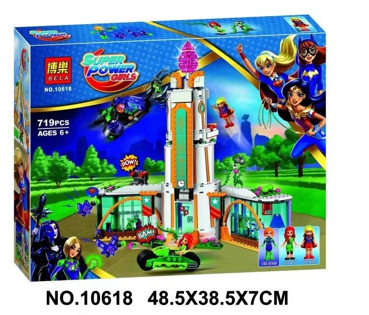 Bela 10618 719Pcs DC Super Hero Mädchen Schule Gift Ivy mini-puppe Baustein Bricks Kompatibel Super Heroes