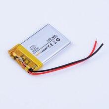 302030 3.7V 140mAh li-polymère Li-ion batterie pour bluetooth casque Bracelet poignet montre intelligente stylo GPS PSP MP3 MP4 LED 032030
