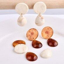 Korea retro imitation amber ivory white drops wafer jewelry accessories DIY earring earrings eardrop material bag