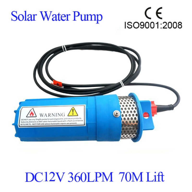 dc 12v 24v mini solar power high pressure water pump 70 meter lift diaphragm submersible outdoor garden fountain deep well 2 pcs/lot 12V DC 360LPH 230 Feet/ 70M Lift Small Submersible Solar Water Pump For Outdoor Garden Well