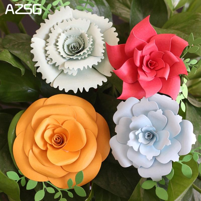AZSG Flowers Metal Cutting Dies for Scrapbooking Photo Album Embossing DIY Paper Cards Making Decorative Stencil Craft