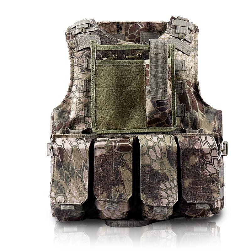 Страйкбольный тактический военный жилет-амфибия, модульный армейский Камуфляжный жилет с питоном