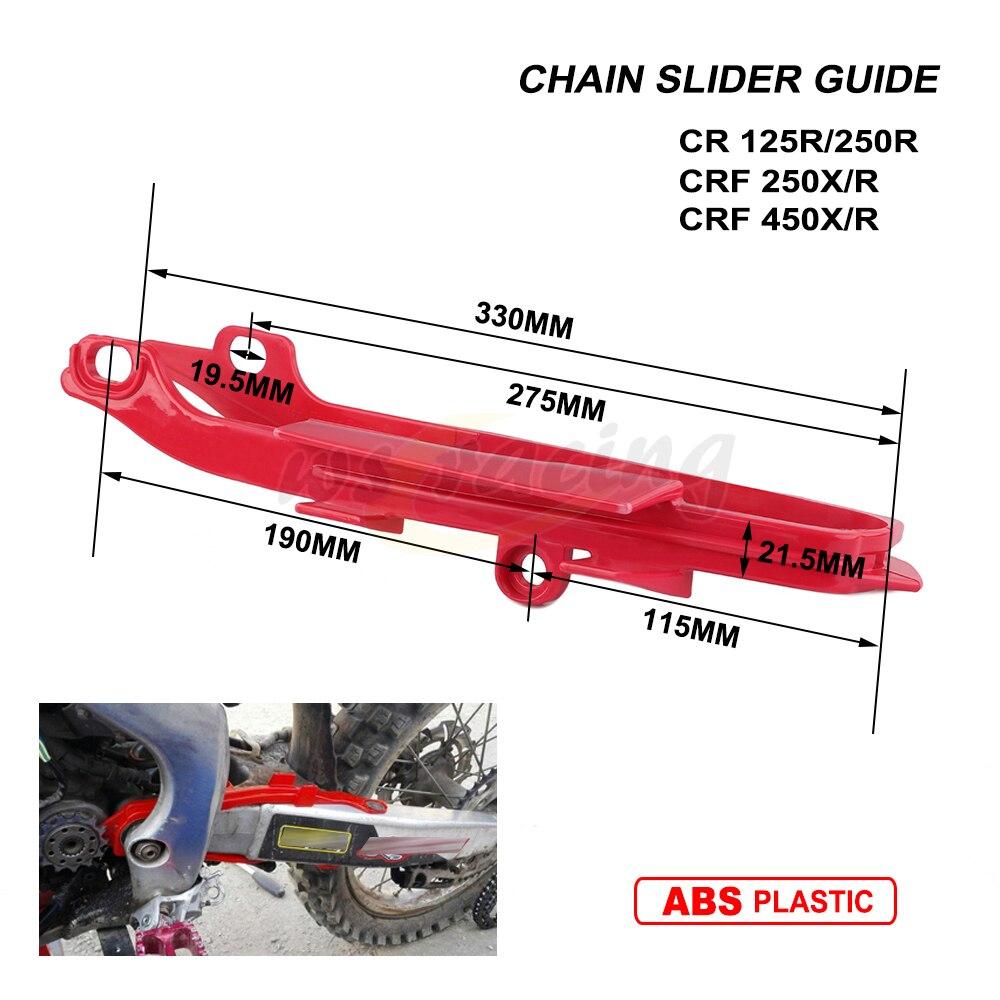 Motocicleta cadena roja Slider basculante guía para Honda CR125R CR250R 00-07 CRF250R 04-09 CRF450R 02-08 CRF250X 04-13 CRF450X