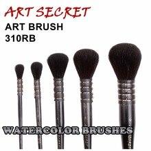 310RB haute qualité écureuil cheveux manche en bois art pinceaux peinture artistique aquarelle pinceau stylo pour dessin