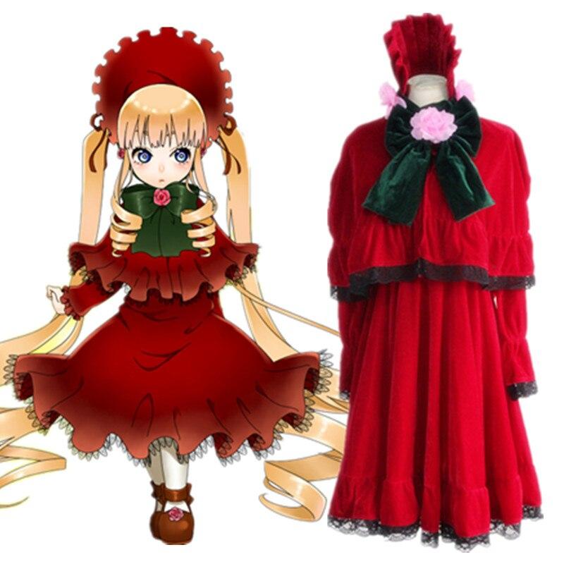 Recién llegado, disfraz de doncella rosa de Anime, disfraz de doncella Shinku Lolita de mujer, disfraz de fiesta para Halloween, envío gratuito