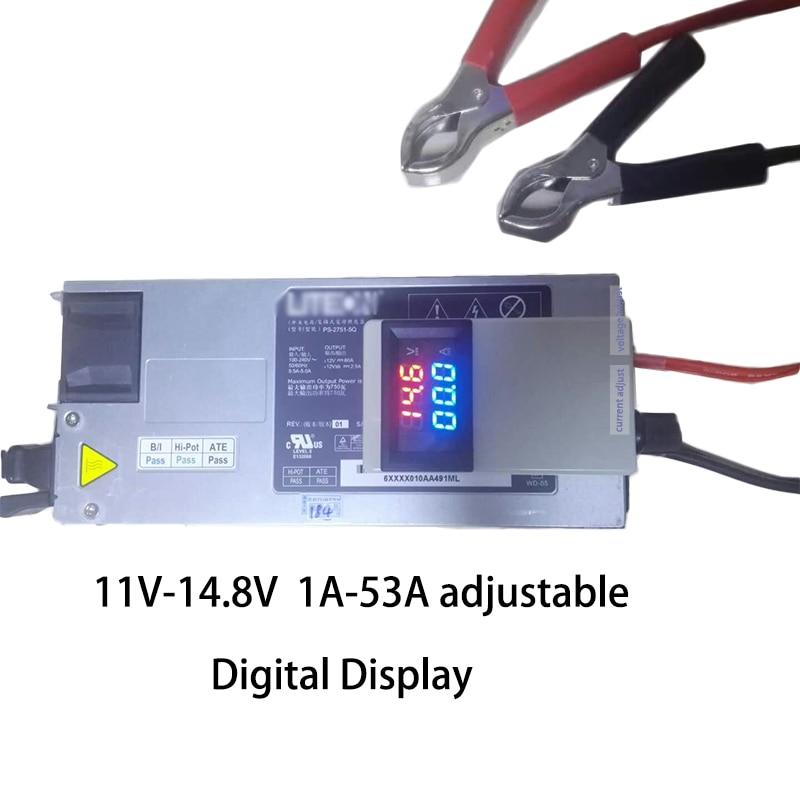 전압 현재 조정 가능한 Lifepo4 Lipo 리튬 이온 리튬 배터리 충전기 4.2V 8.4V 11V 12.6V 14.6V 14.8V 75A 50A 디스플레이 2S 3S 4S