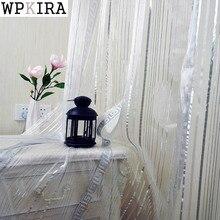Grau Silber Tüll Für Wohnzimmer Schlafzimmer Modernen Chinesischen Geometrische Muster Garn Gefärbt Hause Fenster Vorhang Voile Vorhänge 239 & 40