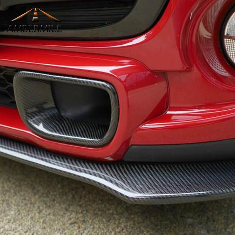 AMBERMILE 200mmX1520mm 5D Película de vinilo de fibra de carbono pegatinas de coche de Mini Cooper R50 R53 R55 R56 R57 R60 R61 F54 F55 F56 F60