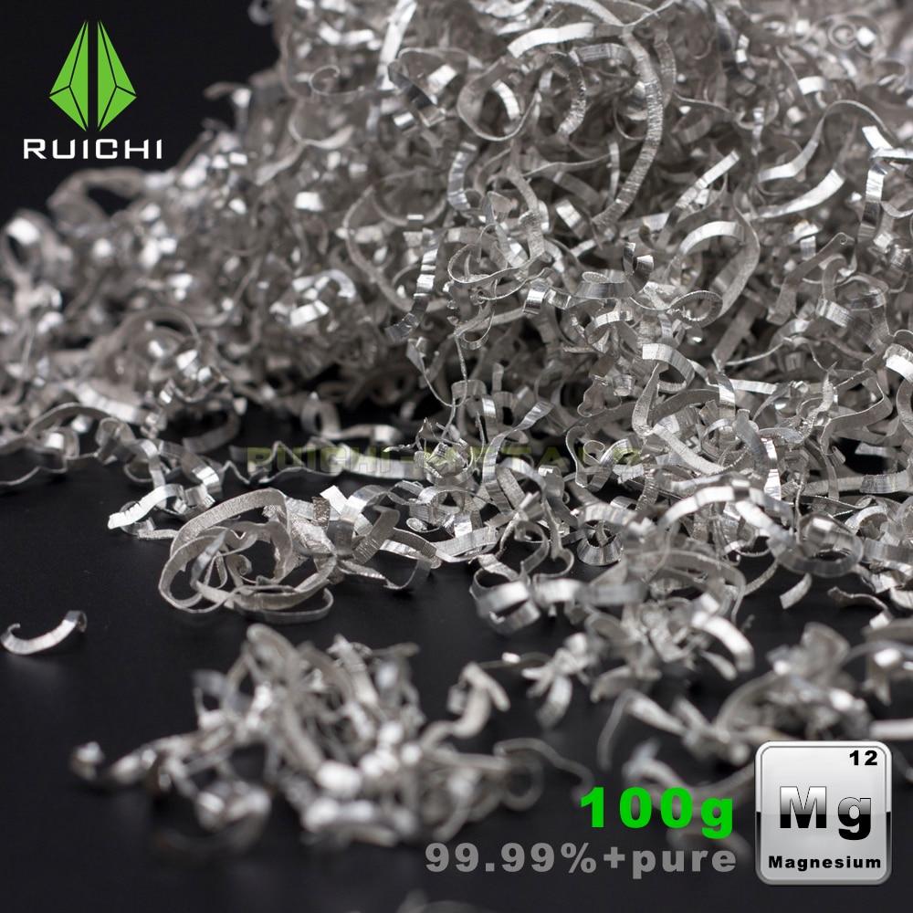 100g microplaquetas de magnésio/torneamento/barbear 99.95% magnésio metal