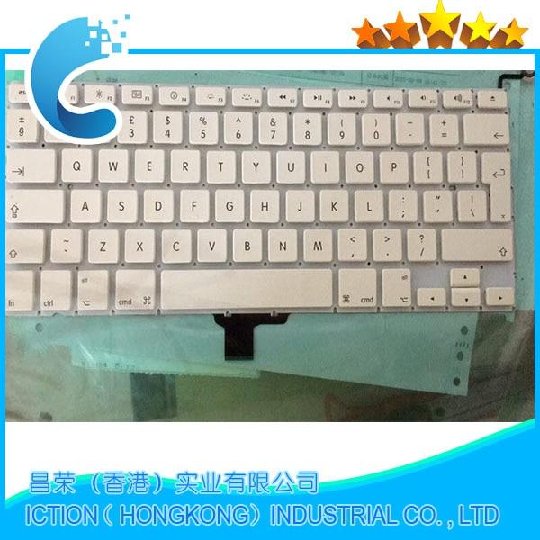 Клавиатура A1342, английская клавиатура для Apple Macbook 13 дюймов, белая клавиатура Unibody A1342, английская клавиатура 2009 2010 MC207 MC516