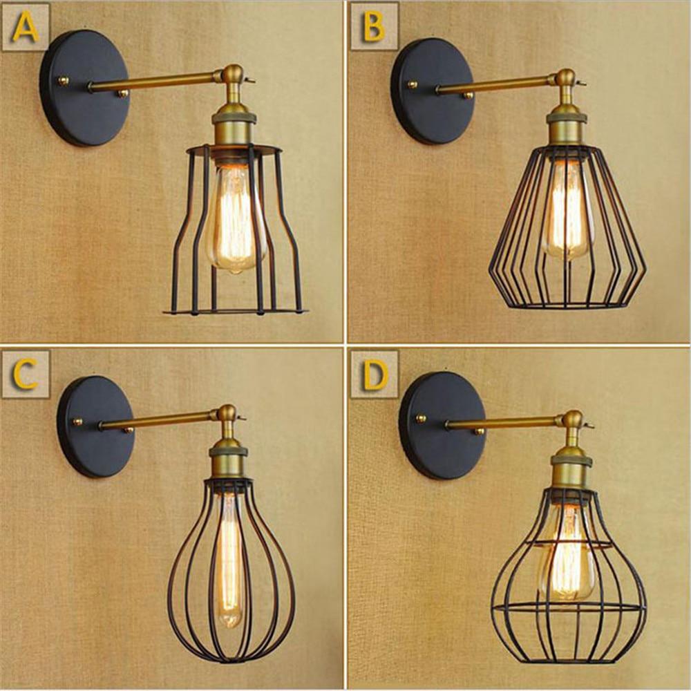 Estilo Loft americano lámpara de pared Industrial en el pasillo de la...