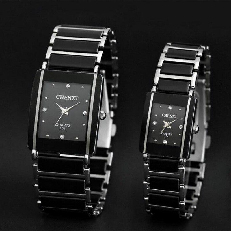 2020 CHENXI, relojes de cuarzo de cerámica de imitación para hombre y mujer, reloj de pulsera famoso de lujo para Relogio Masculino
