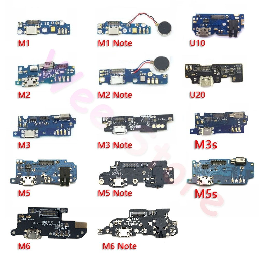 USB Charging Connector Port Charger Dock Flex Cable For Meizu M1 M2 M3 M3S M5 M5s M6 Note Mini U10 U