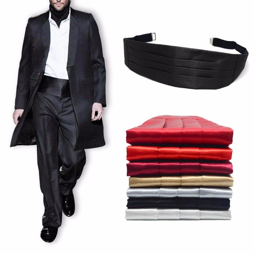 Traje de boda para hombre, conjunto de pajarita, toalla de faja, negro, rojo, blanco, plata, corbata de moño sólida QLYC0006