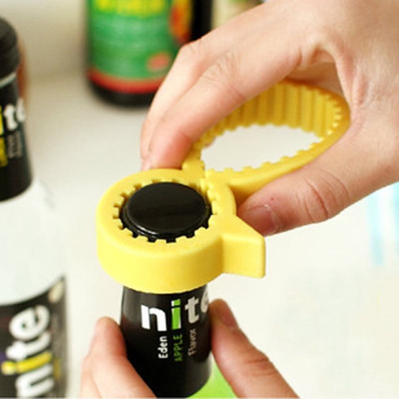 Abrebotellas de silicona Universal antideslizante pequeño pato amarillo tapa de rosca multifunción Dispositivo de ahorro de trabajo para utensilios de cocina