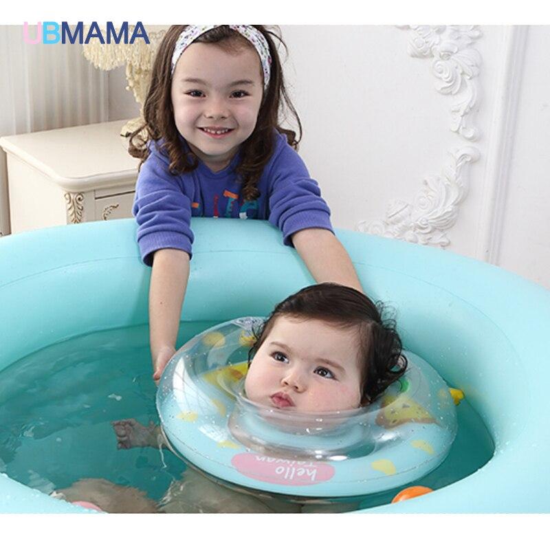 Anillo de natación para bebé, doble protección ajustable, natación piscinas, flotador de cuello para bebé, salvavidas, inflable para recién nacido, natación circular