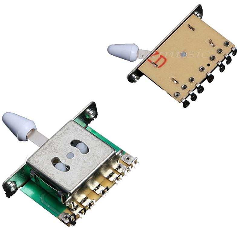 Interruptores selectores de 5 vías de calidad 2p para Fender Strat repuesto...