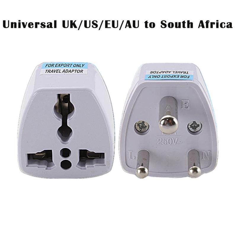 Adaptador de corriente de viaje de 3 pines HIPERDEAL Universal UK/US/EU/AU a Sudáfrica 1J24