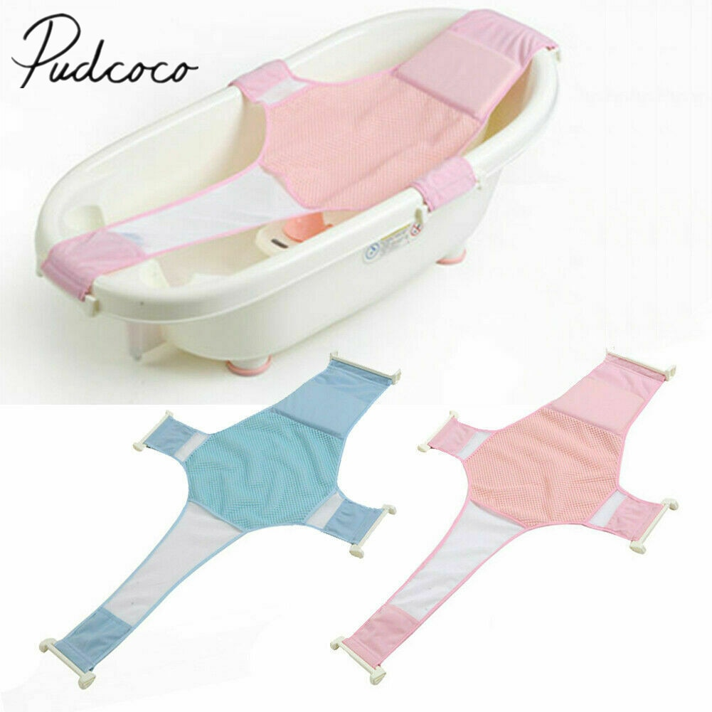 2019 Baby Accessories Baby Infant Convenient Bath Tub Safety Seat Bathing Newborn Shower Mesh Sling Bath Sheets Tub Seat