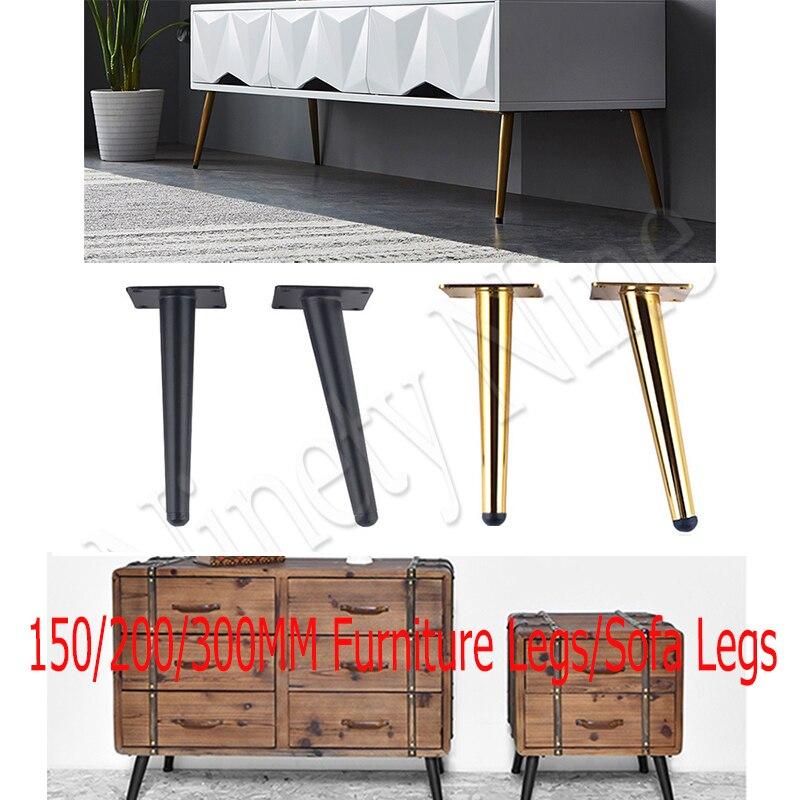 4 قطعة 15-30 سنتيمتر أثاث معدني الجدول الساق الأجهزة مدبب الذهب خزانة الساق خزانة جانبية القهوة مخروط كرسي قدم