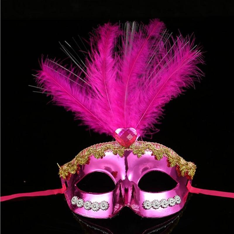 Las mujeres las niñas LED parpadeante resplandor de fibra de máscara princesa intermitente bola máscara Mardi Gras de Carnaval vestido fiesta suministros