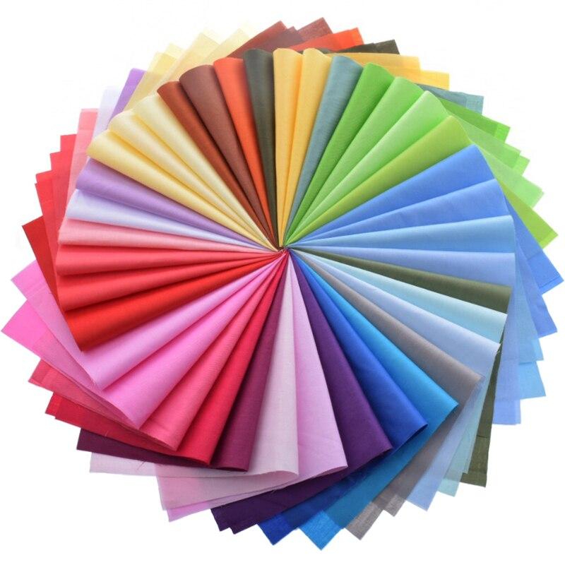 Mezcla aleatoria, tela de algodón de Color sólido para colchas de retazos, paquete de tela para coser, tela acolchada, manualidades, diseño de materia