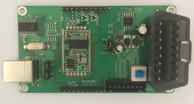 Модуль разработки OBD2, demoboard OBD (материнская плата + отверстие для печати одной платы)