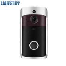Timbre de seguridad inalámbrico WiFi con alarma IR HD 720P intercomunicador Visual para grabación de vídeo y puerta, monitoreo a distancia de domicilio, visión nocturna