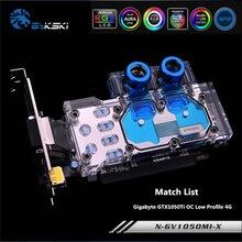 Bykski N-GV1050MI-X Full Coverage GPU Water Block For Gigabyte GTX1050Ti OC Low Profile 4G Knife Card Graphics Card