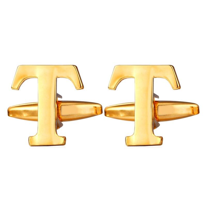 Gemelos con forma de alfabeto T-Z para hombre, oro amarillo y plata, gemelos de colores, joyería de alta calidad para hombre, gemelos C305