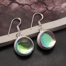 Hermosa Amazing Elegant Girls Jewelry Colorful Topazz Dangle Earrings For Women 1 1/4 Inch A217