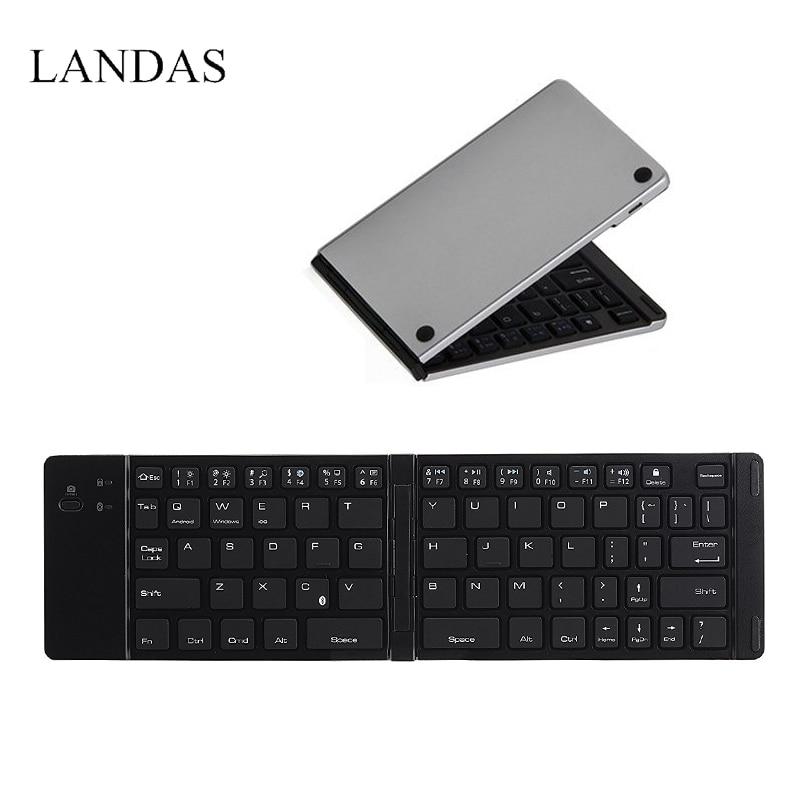 Bolso Dobrável Teclado Sem Fio Bluetooth dobrável Teclado Sem Fio Para O Telefone PC Para Android Sumsang Computador Desktop