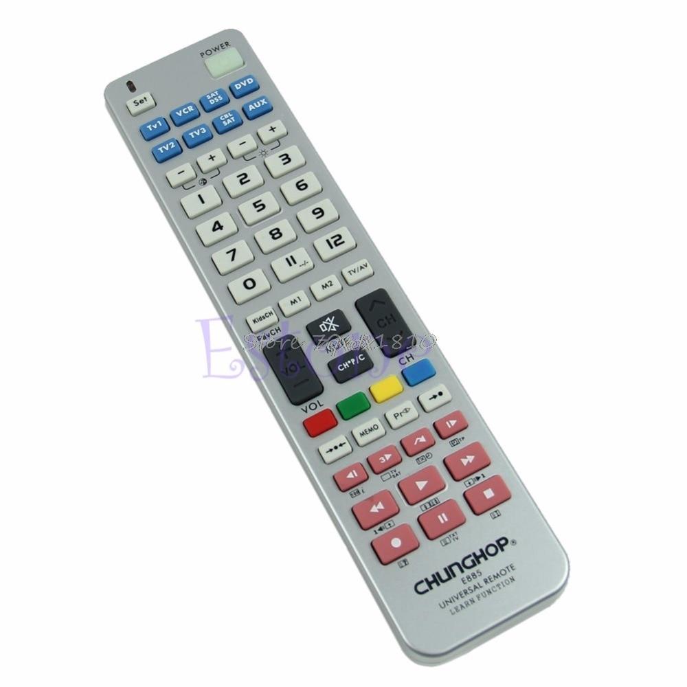 Control remoto Universal 8 en 1 Función de aprendizaje para TV CBL VCR SAT DVD venta al por mayor y Dropship