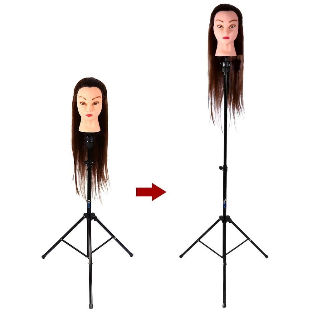 Soporte de trípode ajustable cabeza de maniquí trípode cabeza para formación en peluquería soporte para cabello soporte para pelucas salón de peluquería entrenamiento