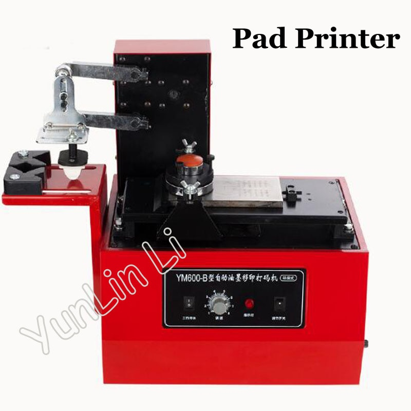 Desktop Electric Pad Printer Round Printing Machine Environmental Protection Type Ink Heat