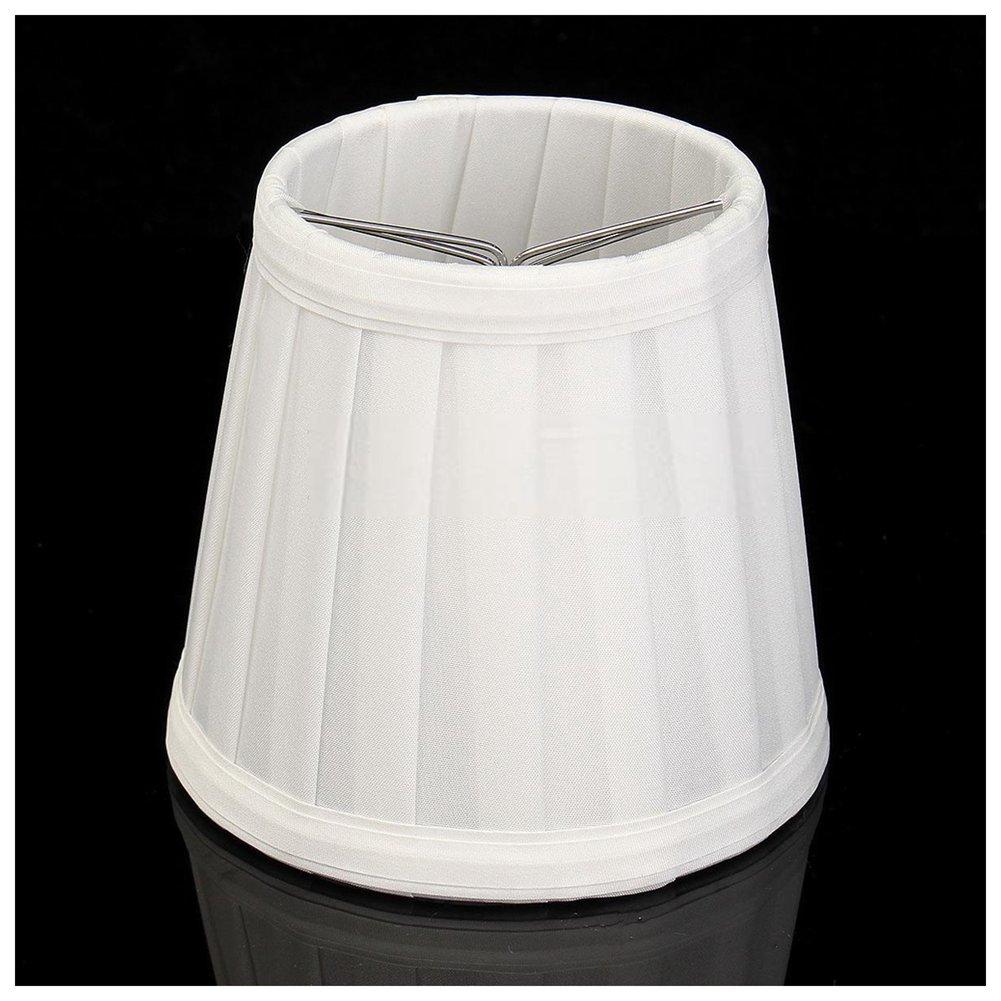 Máscara de Lâmpada Da Tela do vintage Tampa Da Lâmpada de Mesa Desk Bed Suporte Lustre Branco