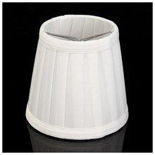 Vintage Stoff Lampe Schatten Tisch Schreibtisch Bett Lampe Abdeckung Halter Kronleuchter Weiß